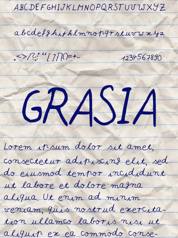 GraphicRiver Grasia Font 10547219