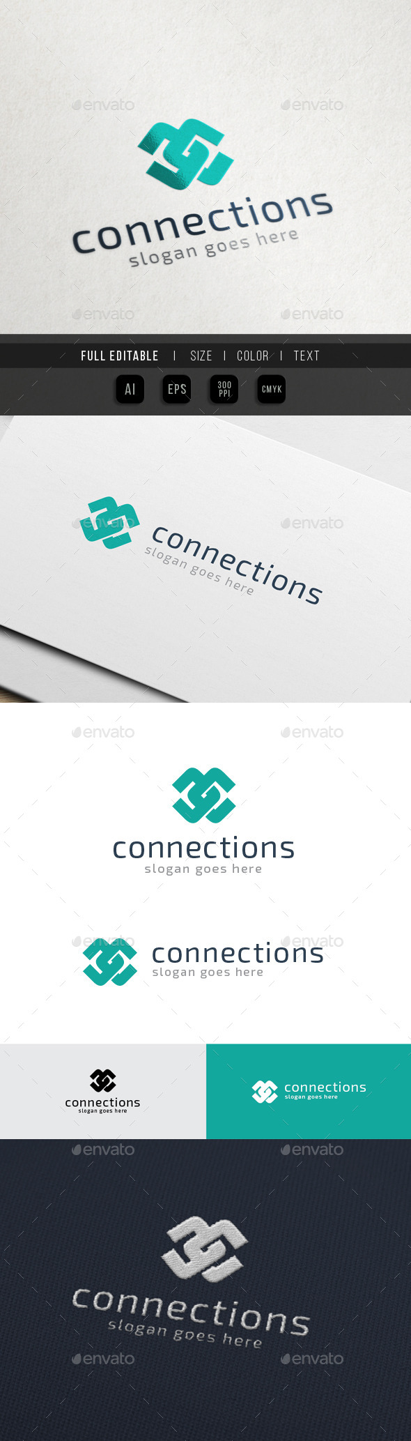 GraphicRiver Content Connect Letter C CC 10547447