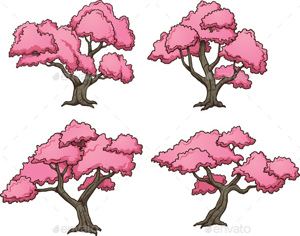 GraphicRiver Sakura Trees 10547530