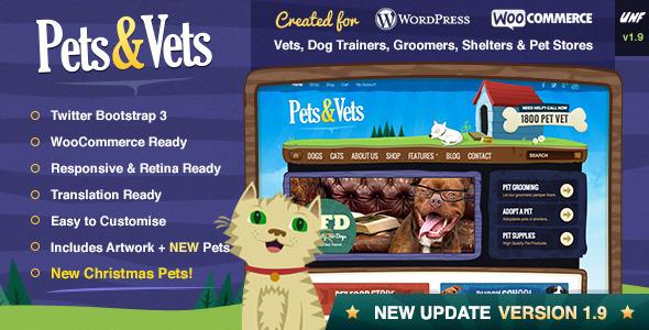 Pets & Vets - WordPress & WooCommerce - WooCommerce eCommerce
