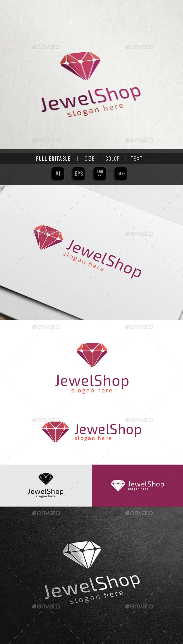 GraphicRiver Jewelry Shop Diamond Art 10547553