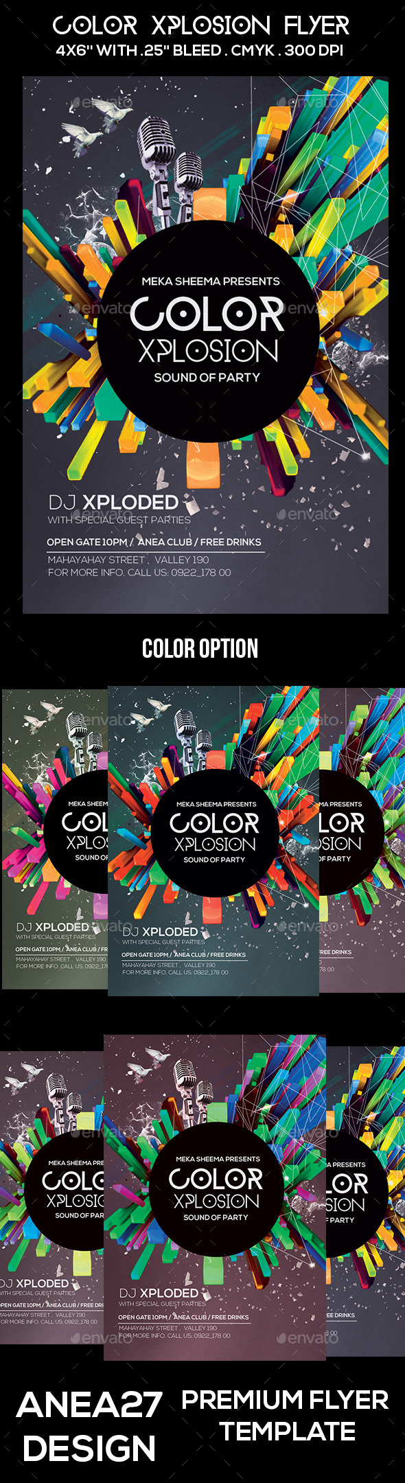 GraphicRiver Color Xplosion Flyer 10547565