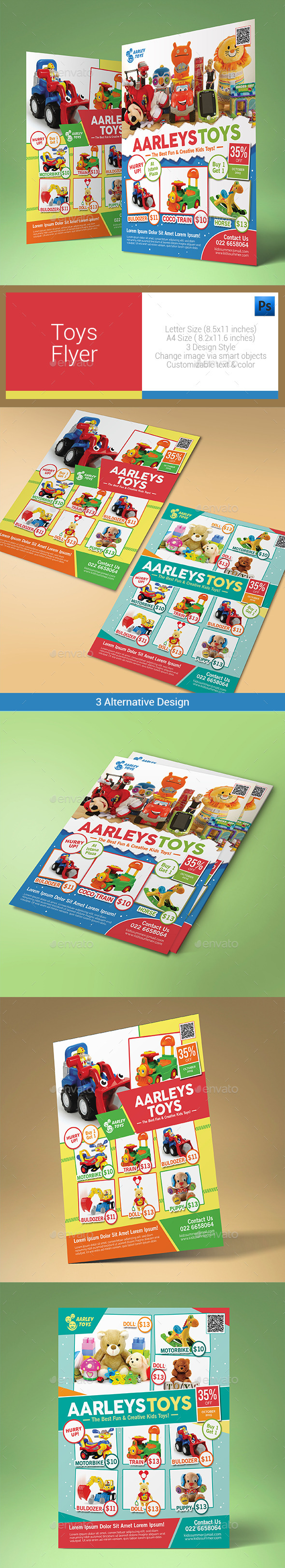 GraphicRiver Toys Flyer 10547600