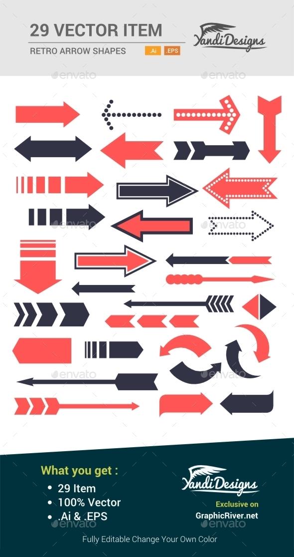 GraphicRiver Retro Arrow Set 10547651