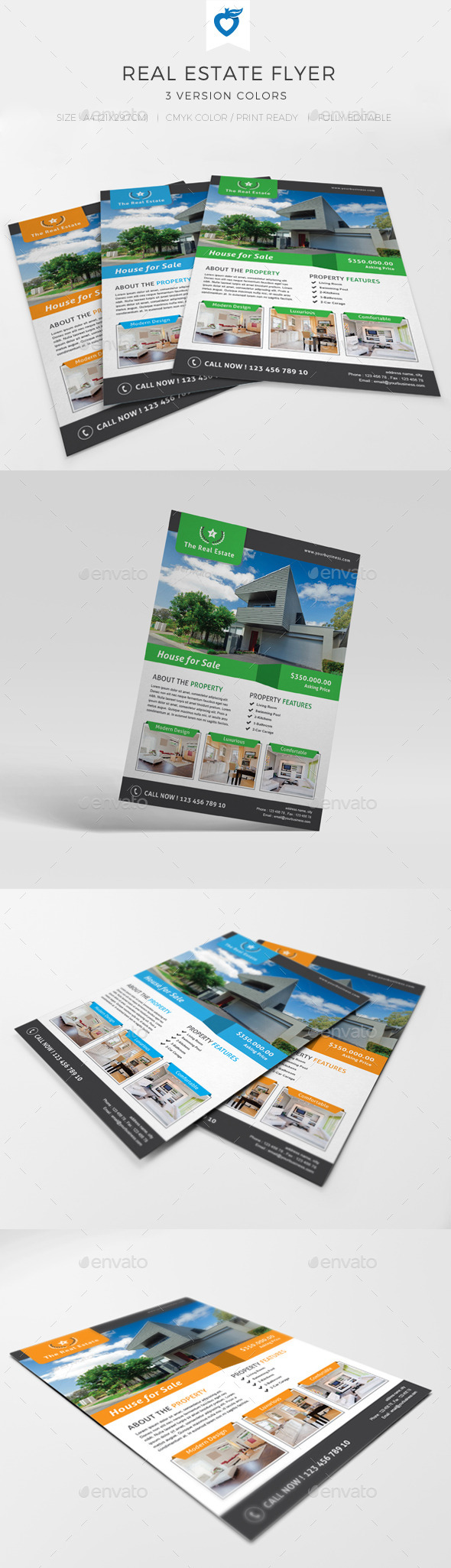 GraphicRiver Real Estate Flyer 10547767