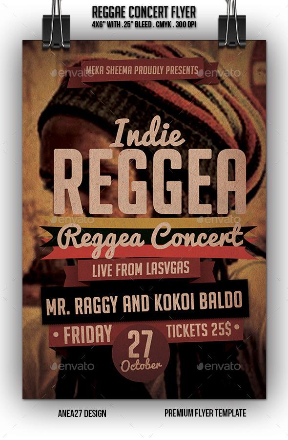 GraphicRiver Reggae Concert Flyer 10547778