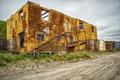 Old destroyed building in north yakutian settlement Chokurdakh - PhotoDune Item for Sale
