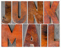 junk mail in wood type - PhotoDune Item for Sale