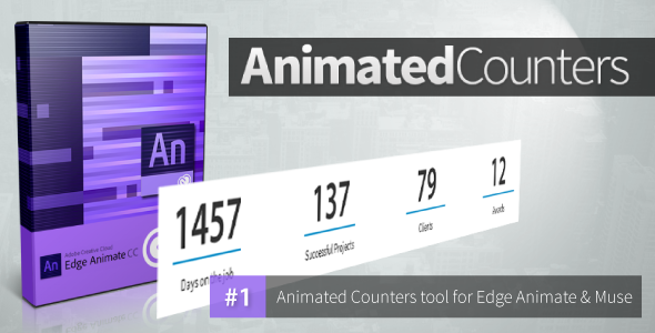 CodeCanyon Animated Counters Edge Animate Collection 10548020