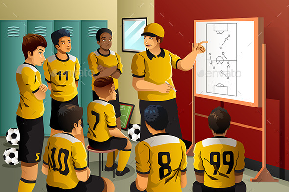 GraphicRiver Soccer Players in Locker Room 10548163