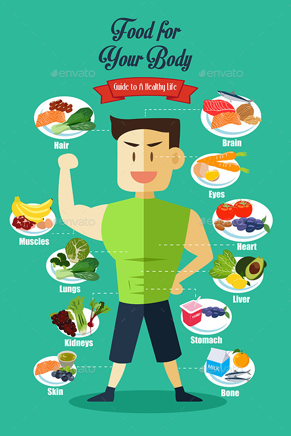 GraphicRiver Infographic of Healthy Food 10548200
