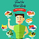 Infographic of Healthy Food - GraphicRiver Item for Sale