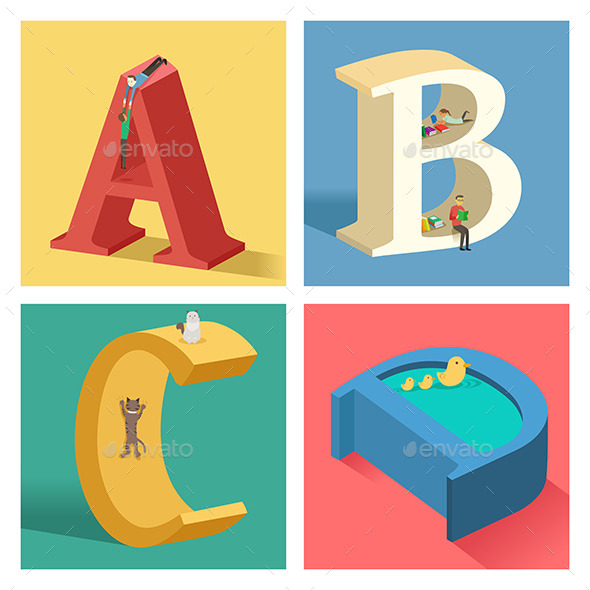 GraphicRiver Alphabets Concept in 3D 10548290