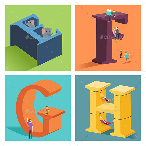GraphicRiver Alphabets Concept in 3D 10548368