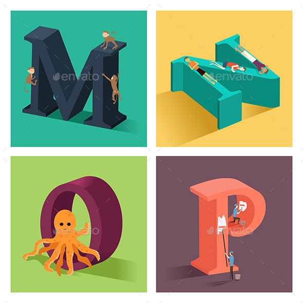 GraphicRiver Alphabets Concept in 3D 10548379