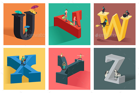 GraphicRiver Alphabets Concept in 3D 10548389