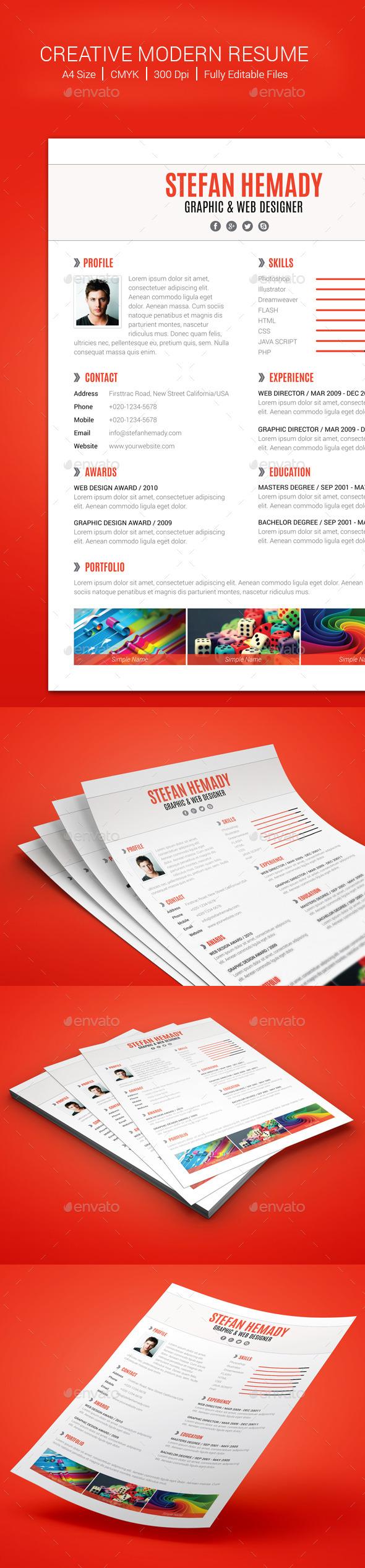 GraphicRiver Creative Modern Resume 10548549