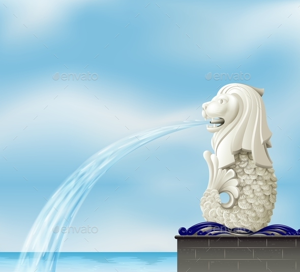 GraphicRiver A Statue of a Merlion 10548776
