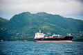 Cargo ship sailing in the Indian ocean near Seychelles - PhotoDune Item for Sale