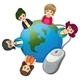 Globe Surrounded with Businesswomen - GraphicRiver Item for Sale