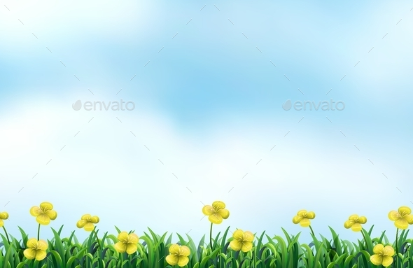 GraphicRiver Flower Field 10549303
