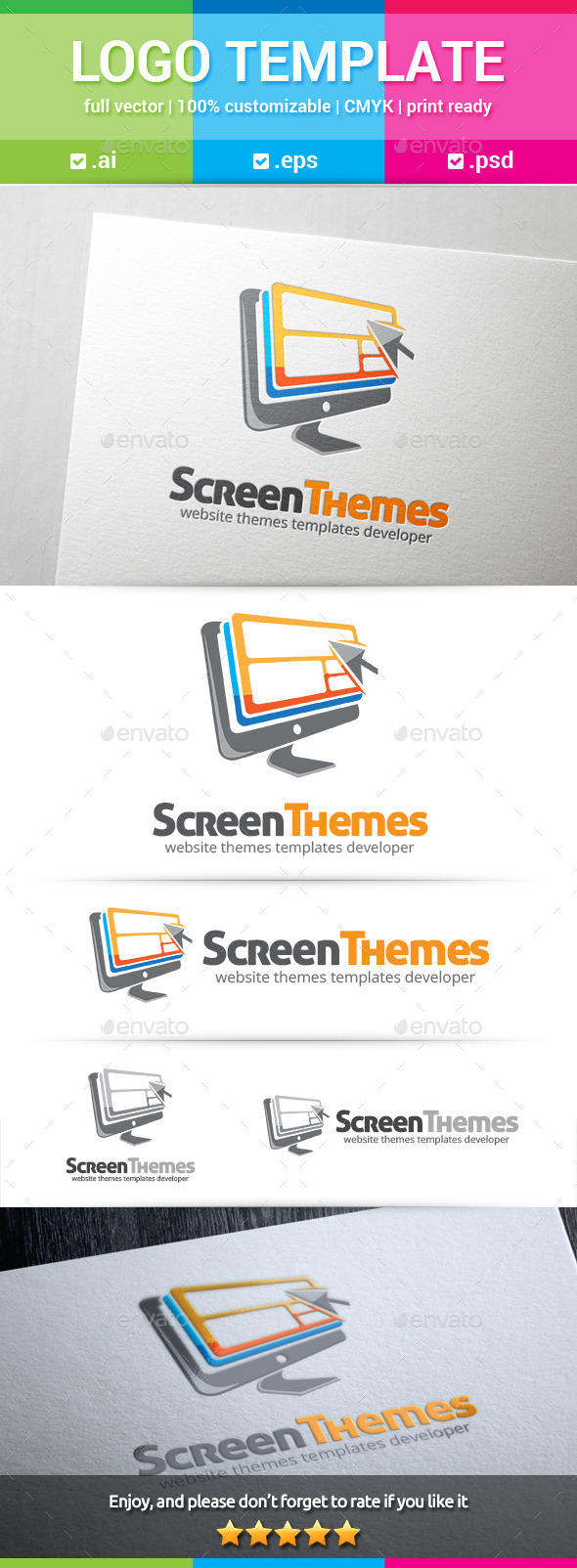 GraphicRiver Screen Theme Logo 10549372