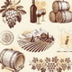 Wine and Winemaking Hand Drawn Set - GraphicRiver Item for Sale