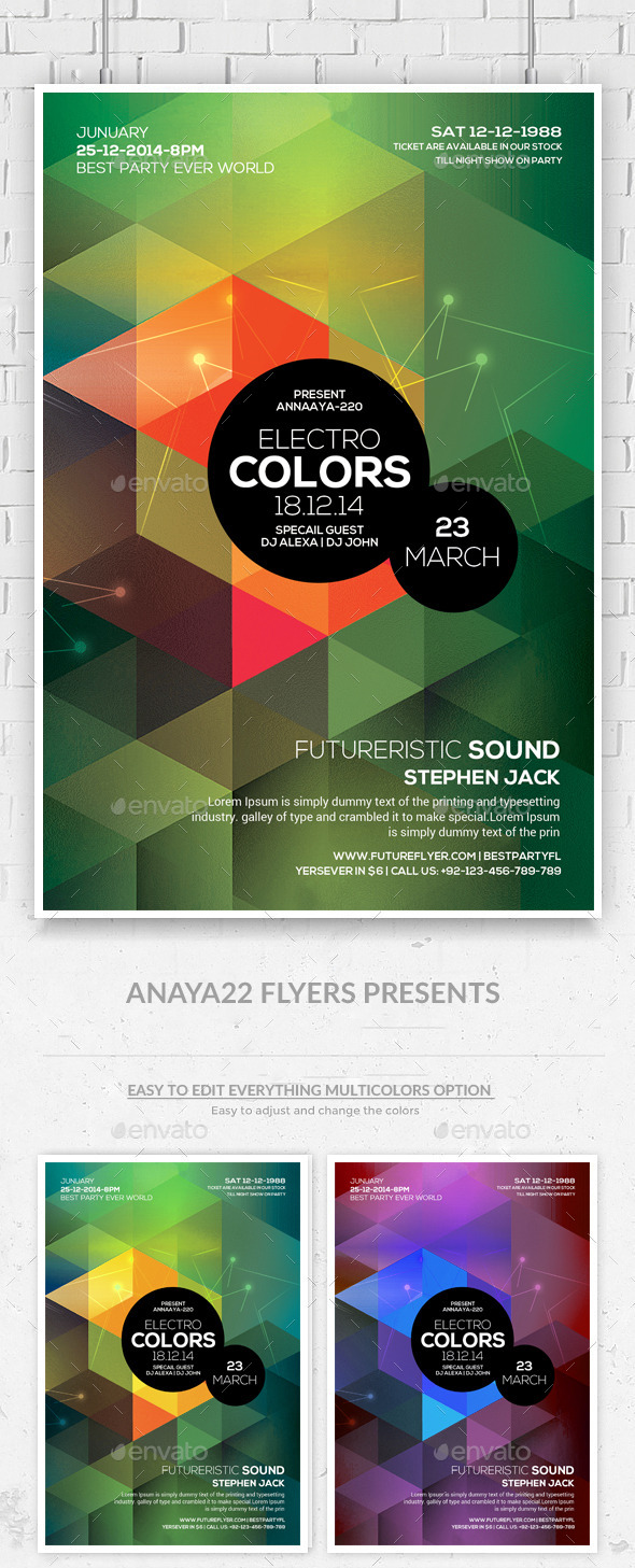 GraphicRiver Minimal Abstract Flyer Templates 10549511