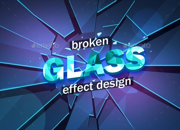 GraphicRiver Broken Glass Design Template 10549525