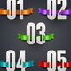 Cardboard Numbers with Color Ribbons - GraphicRiver Item for Sale