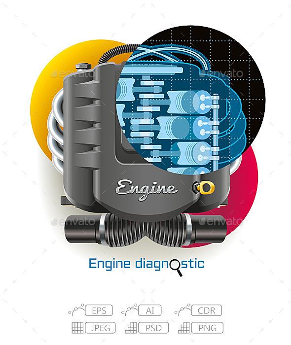 GraphicRiver Engine Diagnostic 10549619