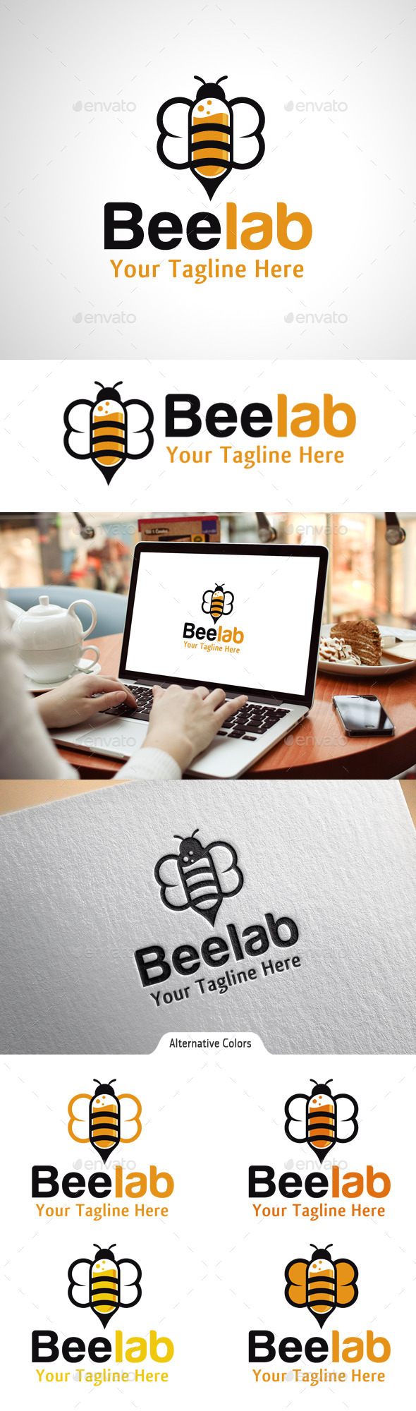 GraphicRiver Bee Lab Logo 10550020