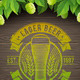 Beer Emblem on Wooden Surface and Ripe Hop - GraphicRiver Item for Sale