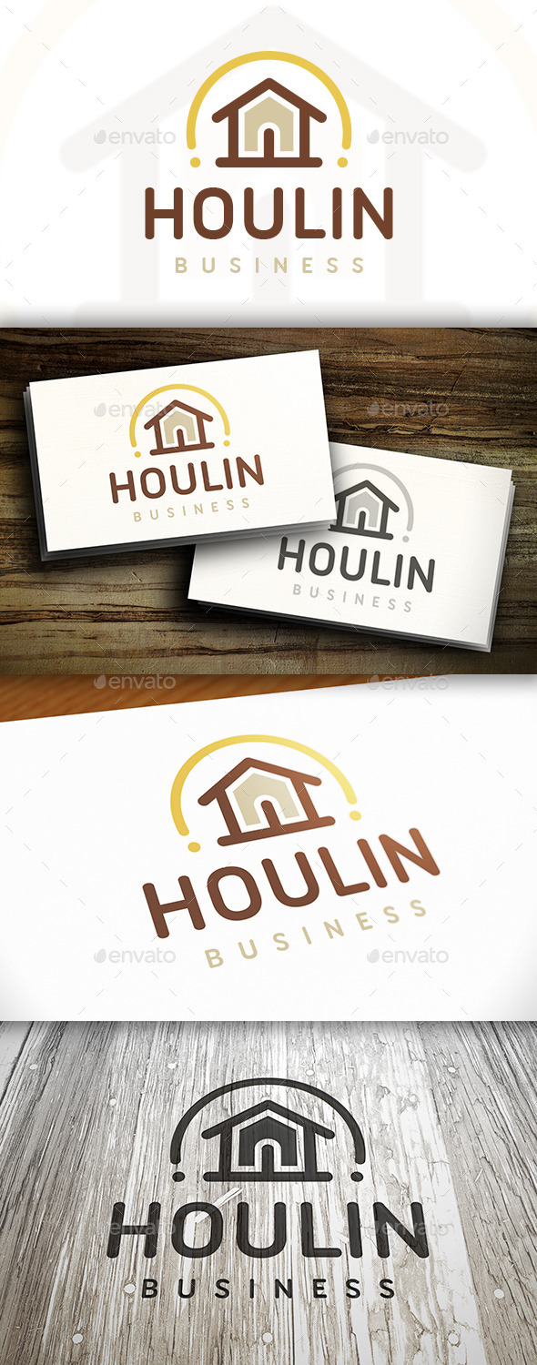 GraphicRiver House Line Logo 10550156