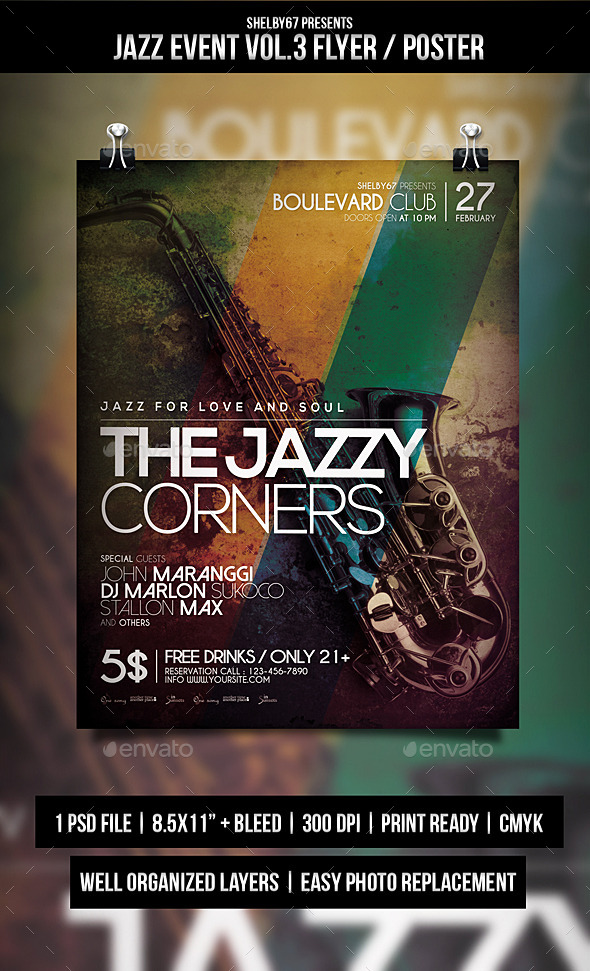 GraphicRiver Jazz Event Flyer Poster Vol.3 10550243