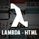 Lambda - Multi Purpose Bootstrap HTML Template - ThemeForest Item for Sale