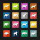 Flat Icons - Animals  - GraphicRiver Item for Sale