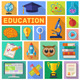 Education Flat Icon Set - GraphicRiver Item for Sale
