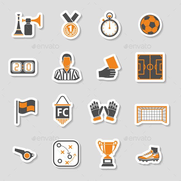 GraphicRiver Soccer Icon Sticker Set 10550258