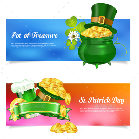 GraphicRiver St Patrick Day Banners 10550271