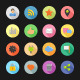 Color Flat Icons - Social Network - GraphicRiver Item for Sale