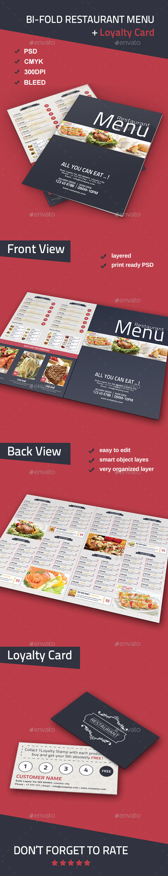 GraphicRiver Bi-fold Restaurant Food Menu 10471822