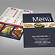 Bi-fold Restaurant Food Menu