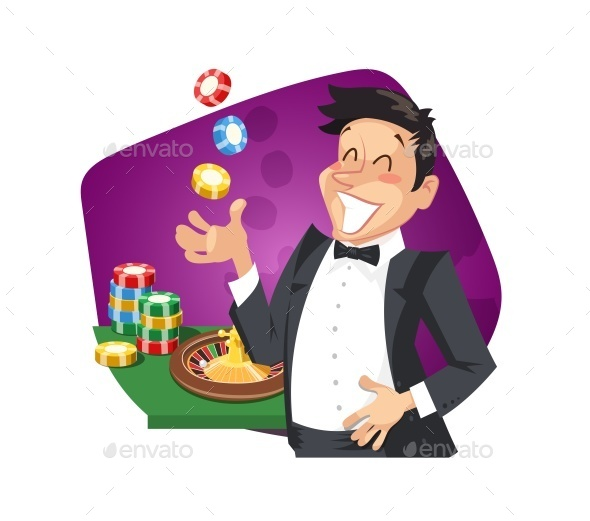 GraphicRiver Man Play Roulette in Casino 10550374
