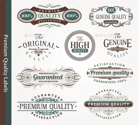 GraphicRiver Decorative Labels of Quality 10550469
