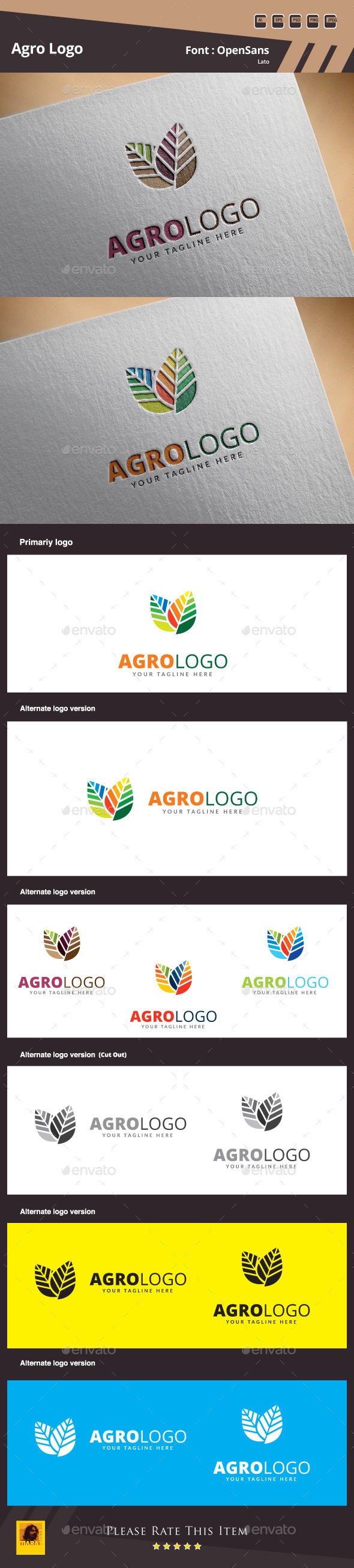 GraphicRiver Agro Logo Template 10550546
