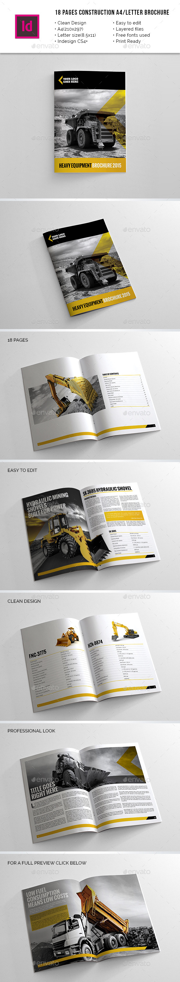 GraphicRiver 18 Pages Construction A4 Letter Brochure 10499309