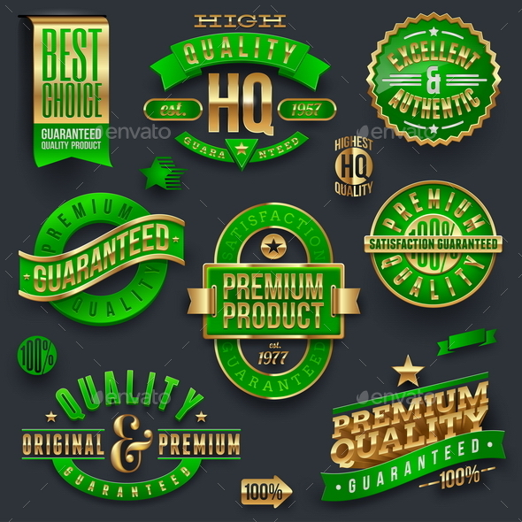 GraphicRiver Quality and Guaranteed Emblems 10550650
