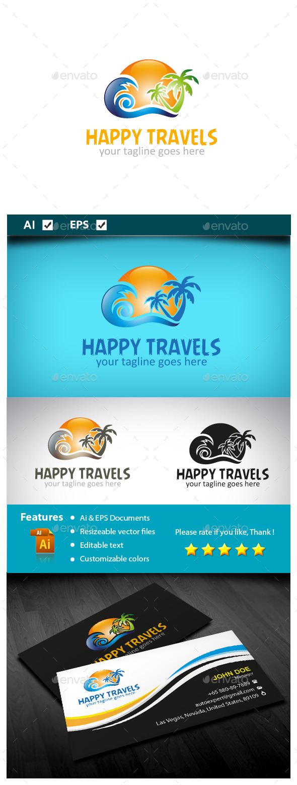 GraphicRiver Happy Travels 10550672