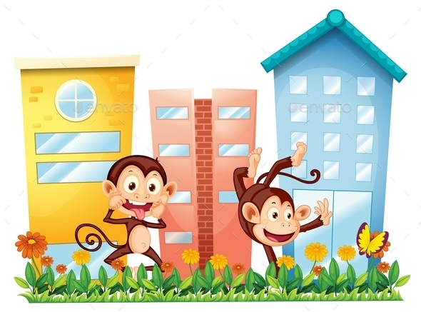 GraphicRiver Monkeys and Buildings 10550682